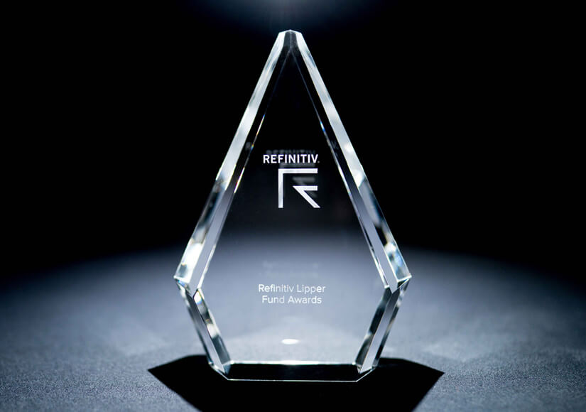 Refinitiv Lipper Fund Award Trophies